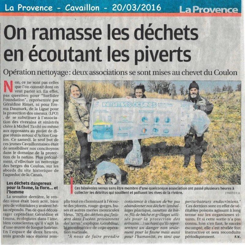 2016-03-12-La Provence-nettoyage du Coulon à Cavaillon