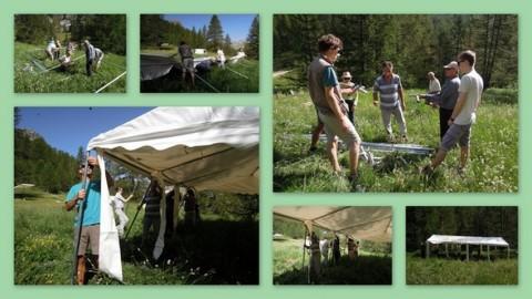 2.fete des partias 2015 -Montage de la tente