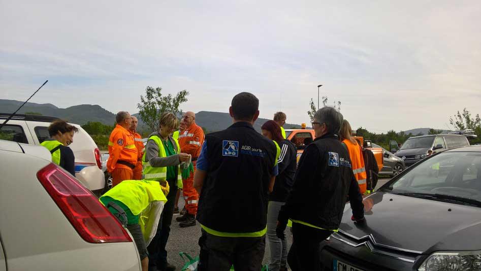Nettoyage route Néoules