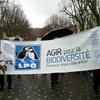 La LPO PACA manifeste contre le projet de centrale biomasse à Gardanne © Paul Moutte