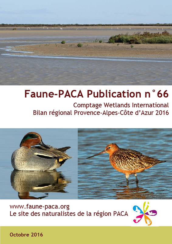 Faune-Paca Publication n°66 : Comptage Wetlands International Bilan régional Provence-Alpes-Côte d'Azur 2016