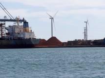 la LPO PACA a accompagné l'installation des éoliennes dans le port méthaniers du Port autonome de Marseille - Photo André Schont