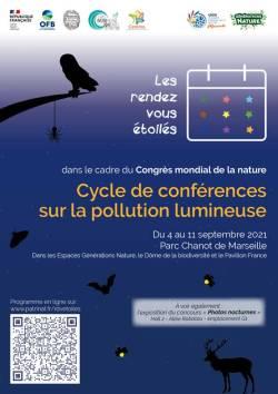 Affiche cycle de conférences sur les pollutions lumineuses