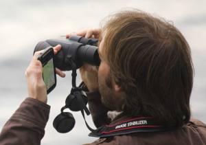 Observateur saisit une donnée en temps réel © Francois Grimal