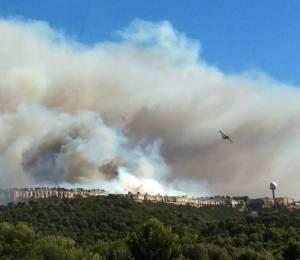 Incendie sur le plateau de Vitrolles le 10 août 2016 © Odélia Riché