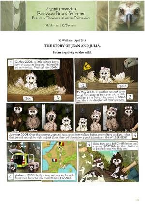 """Bande dessinée """"The story of Jean and Julia"""""""