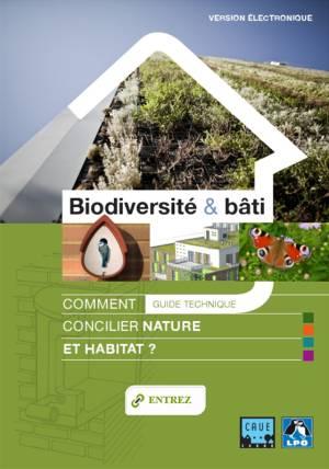 Couverture du guide Biodiversité et bâti