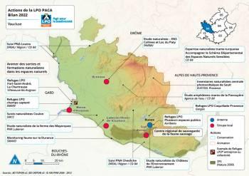 Les actions de la LPO dans le département de Vaucluse