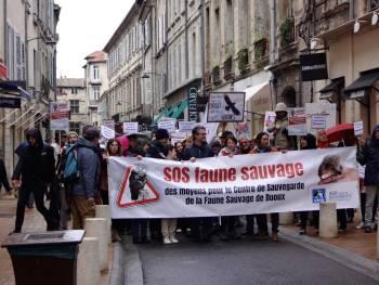 Manifestation pour la réouverture du Centre de Sauvegarde de la Faune Sauvage de Buoux © Magali Goliard