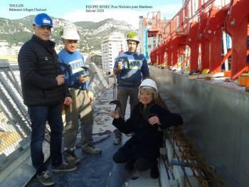 L'équipe SENEC visite le chantier avec Katherine Dubourg, administratrice de la LPO PACA