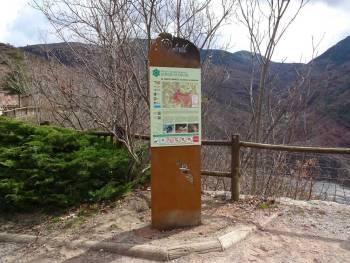 Nouveau panneau d'information à l'entrée de la RNR des gorges de Daluis © Cécile LEMARCHAND