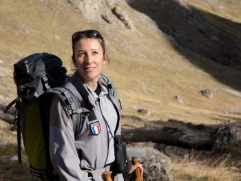 Vanessa Fine, conservatrice de la réserve © Bernard Gille Région Provence-Alpes-Côte d'Azur