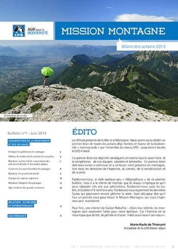 LPO mission montagne bulletin n1