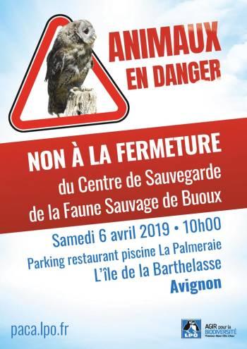 Mobilisation contre la fermeture du Centre de Sauvegarde de Buoux