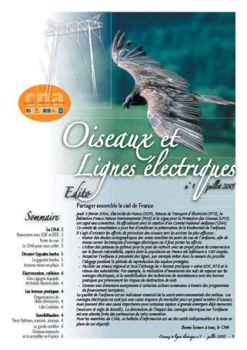 Bulletin d'information - Oiseaux et lignes electriques