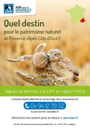 Léguez à la LPO en région PACA