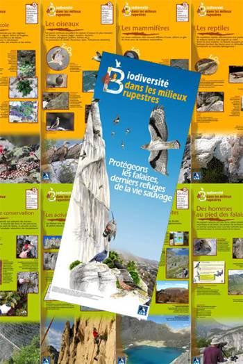 Exposition LPO PACA La biodiversité dans les milieux rupestres