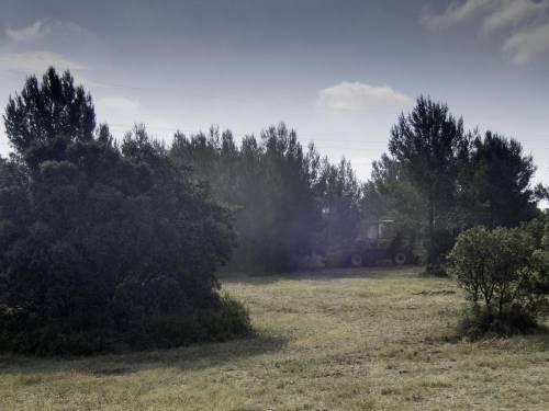 Traveaux DFCI dans les garrigues de Lançon © Olivier Hameau