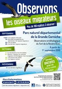 L'observatoire ornithologique du Fort de la Revère ouvre le 1er septembre